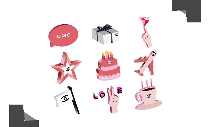 Chanel's Très Chic Emojis