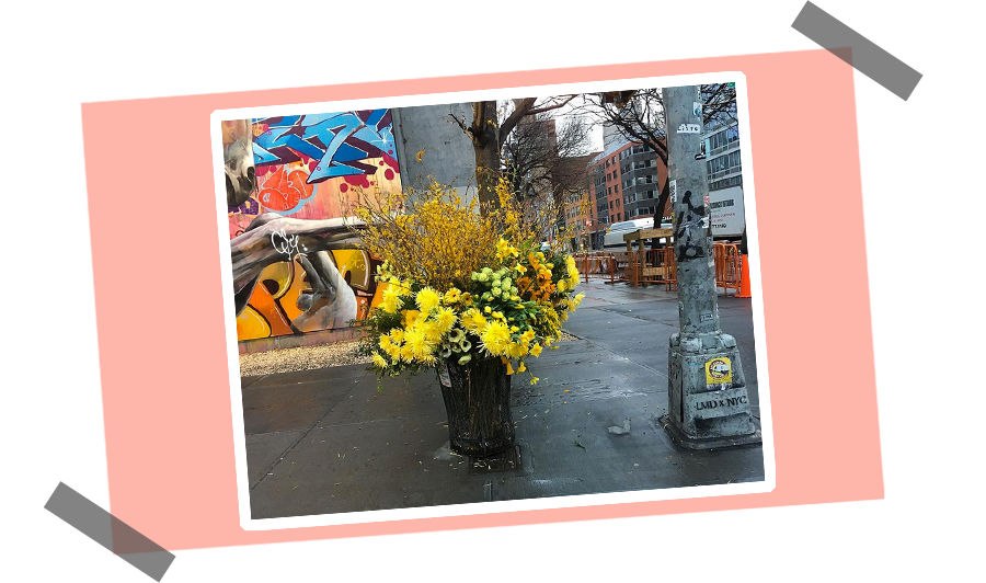 """NY's Flower Flashes - """"Miller was here"""""""