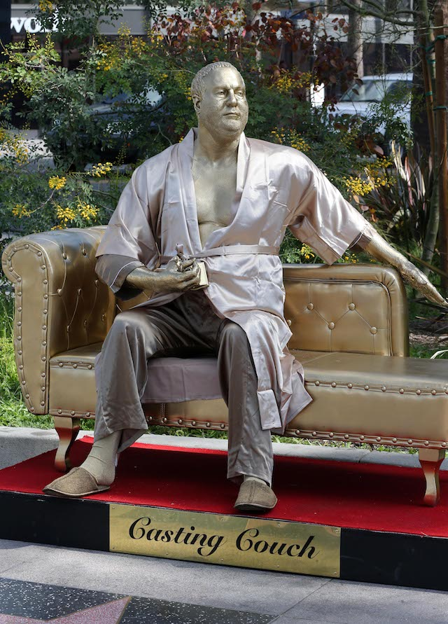 Harvey Weinstein Casting Couch Oscars On Hollywood Blvd By Artist Plastic Jesus