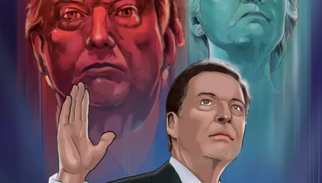 A new hand-painted comic book about former FBI director Mike Comey