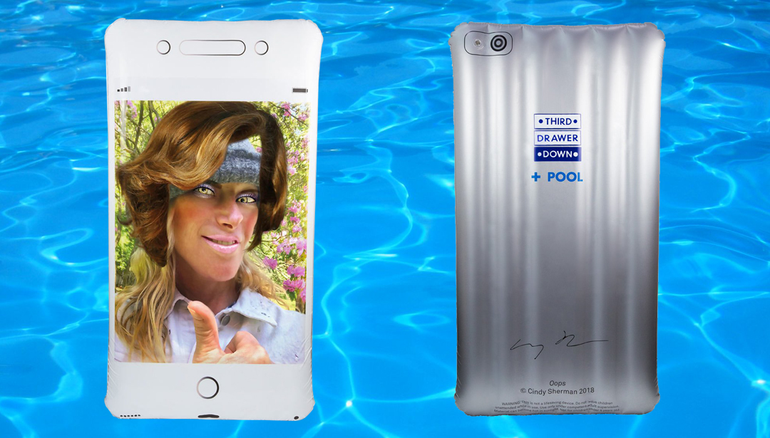 Float on an iPhone this summer, thanks to Cindy Sherman's new pool bed