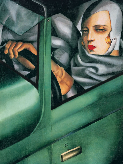 self-portrait-in-the-green-bugatti-tamara-de-lempicka-1925