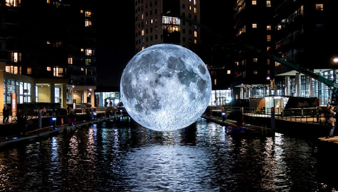 This Pop-Up Museum Brings a Glowing Moon to These Cities
