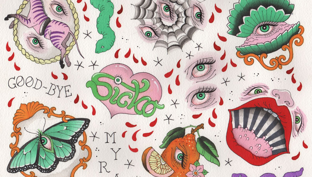 Spooky Halloween Tattoos by Myra Brodsky