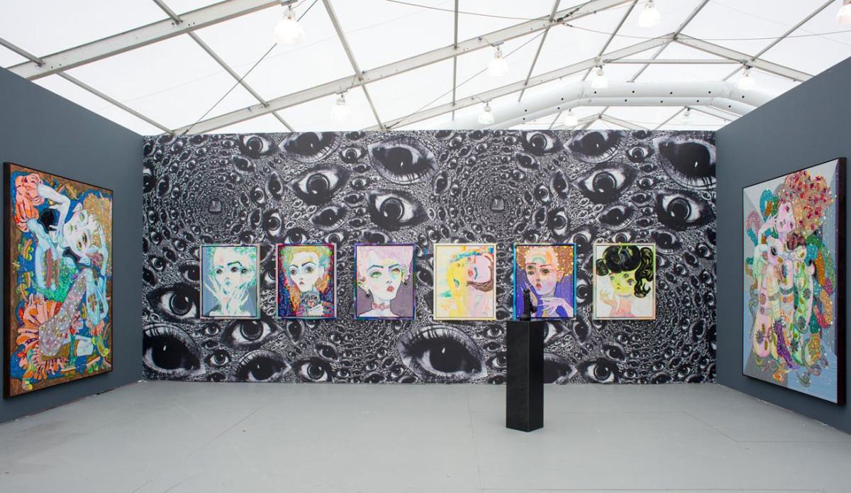 girlgaze-Del Kathryn Barton's installation for UNTITLED Miami Beach. Photo by Casey Kelbaugh.