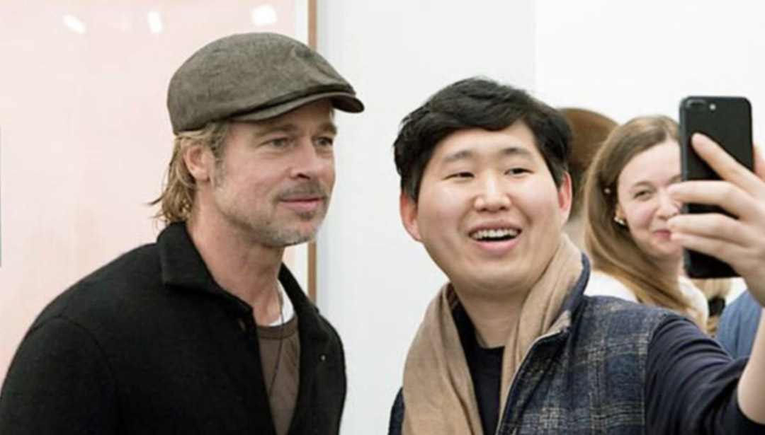Brad Pitt Taking Selfies at Frieze L.A. Is the Cutest Thing Ever