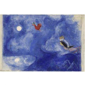 Marc Chagall, Aleko and Zemphira by Moonlight