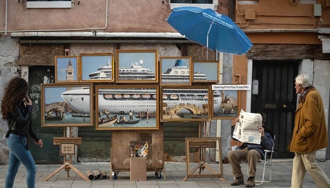 Banksy's Surprise Pop Up in Venice