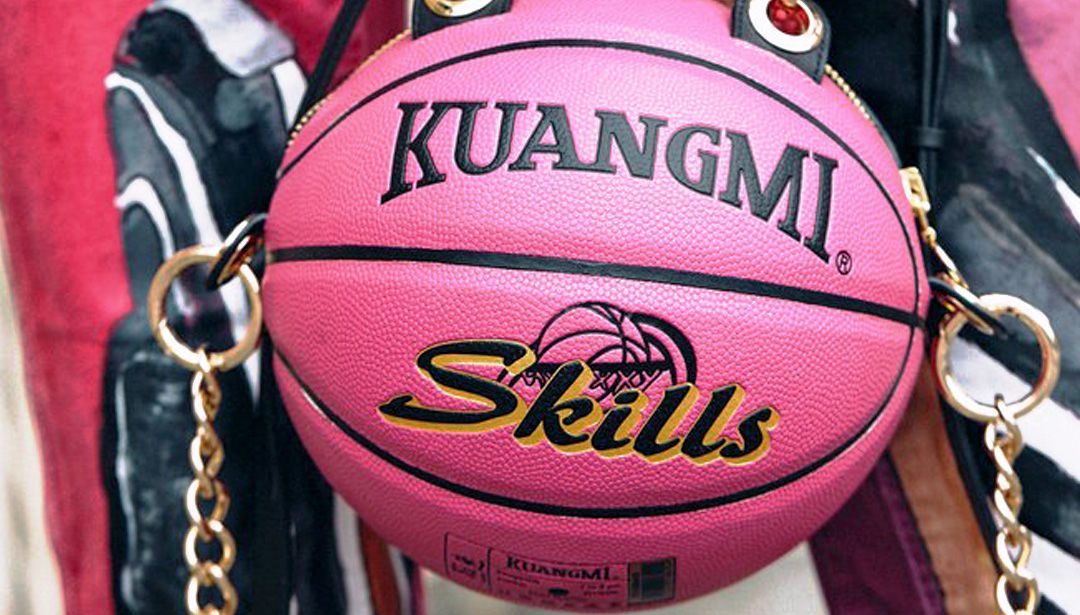Art Girls, Get Sporty with Basketball Clutches