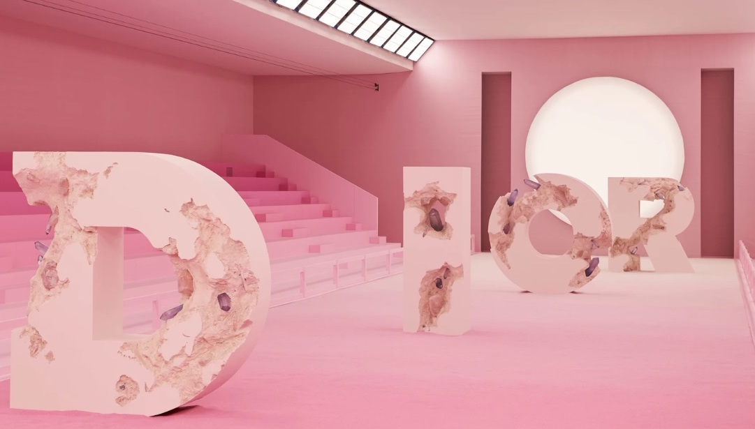 Daniel Arsham Teams up with Dior for Stunning Runway Design