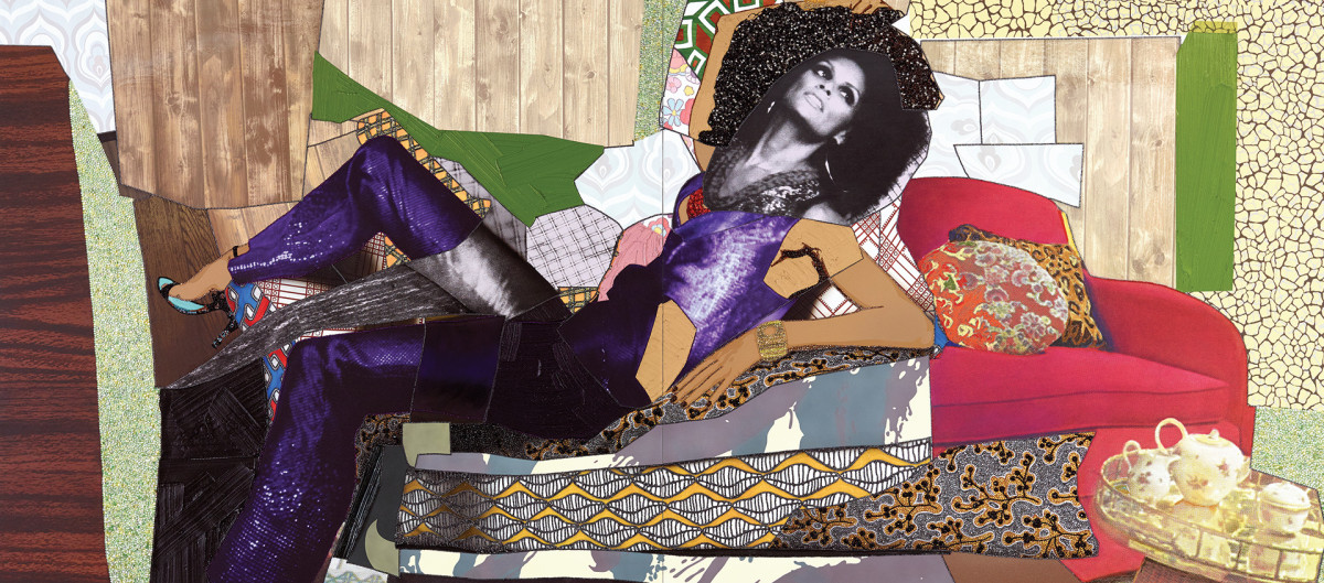Art Contractor: Rhinestone and Painting for Mickalene Thomas