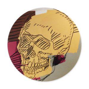 Andy Warhol skull plate