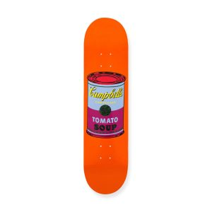 Andy Warhol soup can skate deck