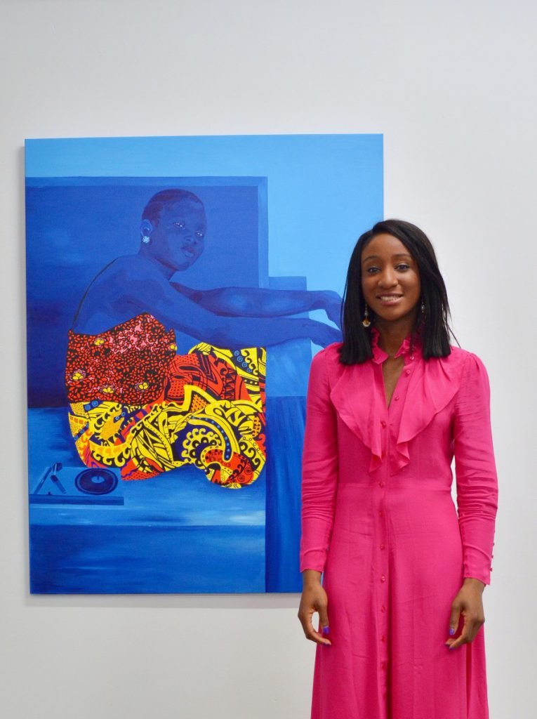 Maryam Lawal at Seeing Sounds. Image courtesy of HAART