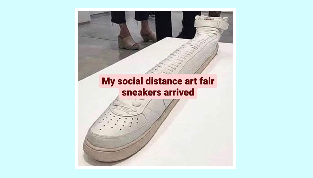 My social distance art fair sneakers arrived
