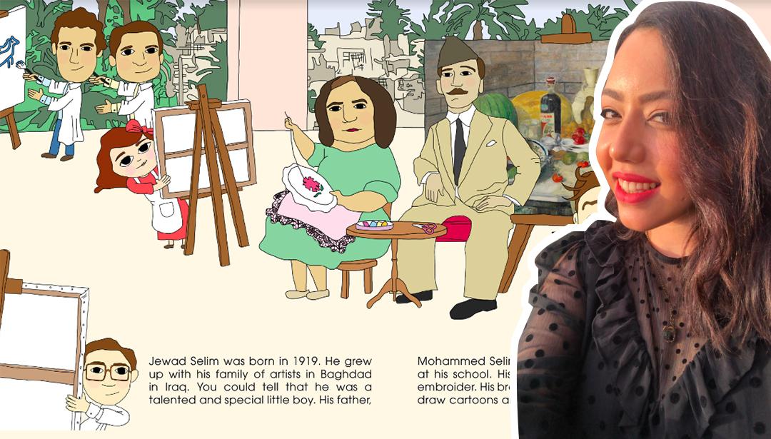 Nadine Nour El Din Illustrates Art History For Kids